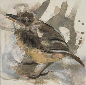 Schilderij Joepe Bos Jonge Vliegenvanger 2020