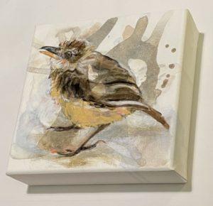 Schilderij Joepe Bos Jonge vliegenvanger zijaanzicht