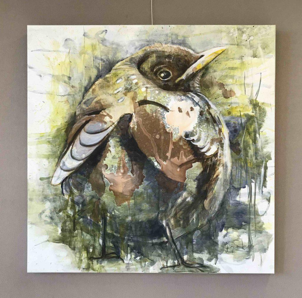 Schilderij Joepe Bos Jonge vogel 2021