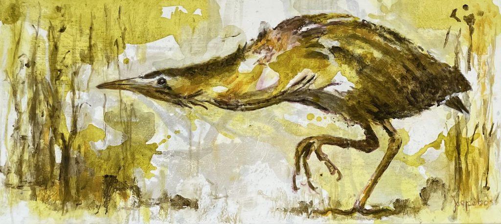schilderij-joepe-bos-roerdomp-30x70